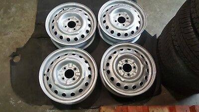 """Alfa Romeo 105 1600 Sprint GT/Duetto set of four 15"""" x 4 1/2"""" wheels dated 1968"""