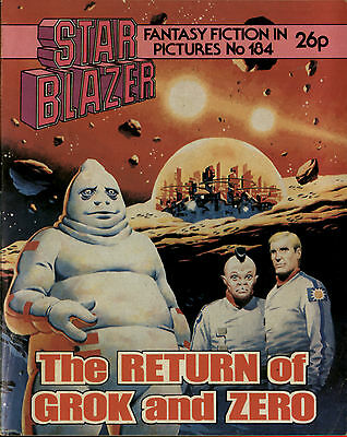 The Return Of Grok And Zero,no.184,starblazer Fantasy Fiction In Pictures,comic