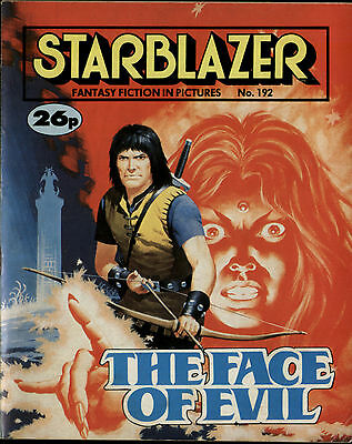 The Face Of Evil,starblazer Fantasy Fiction In Pictures,comic,no.192,1987