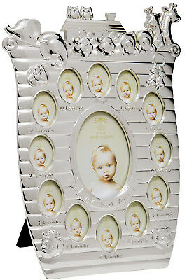 Babies Toddler Silver Plated Baby First Year Photo Frame New From Mothercare