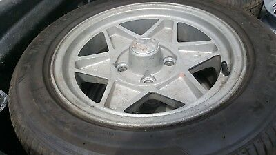 "Alfa Romeo 105 Original set of Four Stil-Auto 6 x 14"" alloy wheels dated 1973"