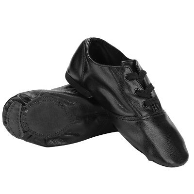 Jazz Dance Modern Stage Leather Shoes Split Sole Children Adults 190MM-275MM CO