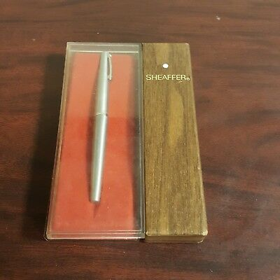 Vintage Shaffear Calligraphy Silver Fountain Pen w/Box Unopened Ink Cartridge