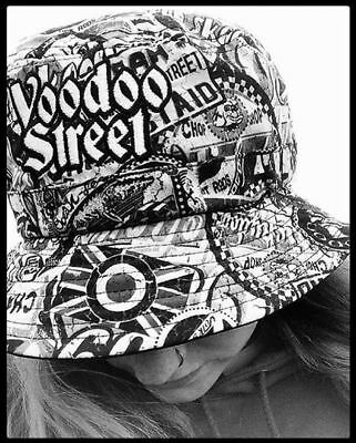 BUCKET HAT-MEDIUM SIZE  BY #VOODOOSTREET™ Original design, Hip Hop, Rave, 90's