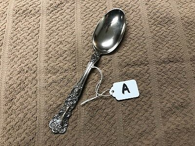 (A)Antique Gorham Buttercup Pattern Sterling Silver OLD MARK Serving Table Spoon