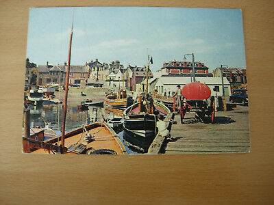 Mallaig Harbour-Classic Fishing Boats-Postmaked 1965-interesting fuel bowser!