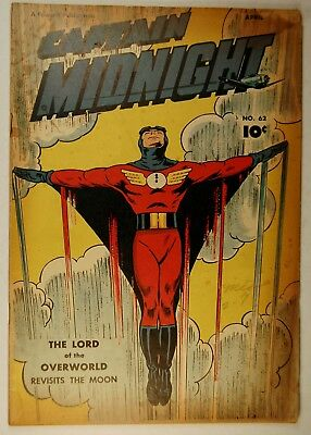 Captain Midnight #62 (Apr 1948, Fawcett) The Lord of the Overworld Visits Moon