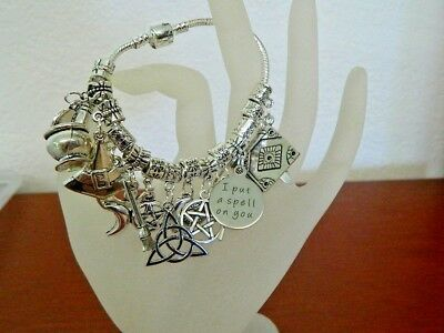 14 Wiccan Altar Tools Charm Bracelet Pagan Celtic Druid Witch Ritual Witchcraft
