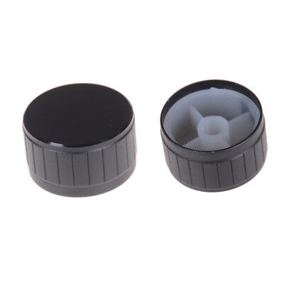 1PC Black 30x17mm Aluminium Circular Volume Tone Control Knob Cover SM
