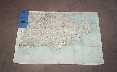 Bartholomews Road Map In 12 Sheets Mounted On Cloth - Touring Cyclists Map 1912