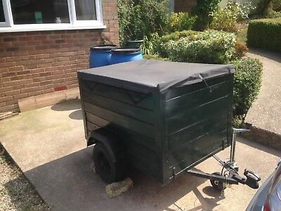 Trailer, towball,guide wheel, electrics, safety chain,canvas cover,