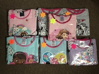 Wholesale Disney Joblot Girls Pyjamas Age 3/4 BNWT CLOSING DOWN SALE
