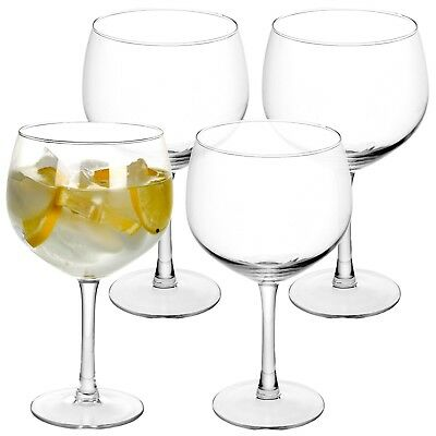 4 8 12 Large 650ml Gin & Tonic Balloon Cocktail Drinking Wine Glasses G&T Set