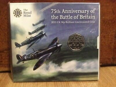75th Anniversary of the Battle of Britain 2015 UK Royal Mint 50p BU Coin Pack