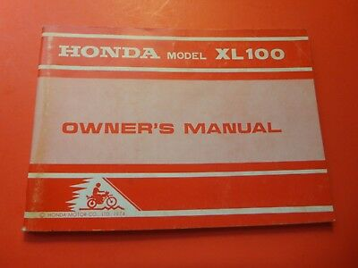 1974 HONDA CB360 CB 360 CL360 H1157' owners manual booklet ... on