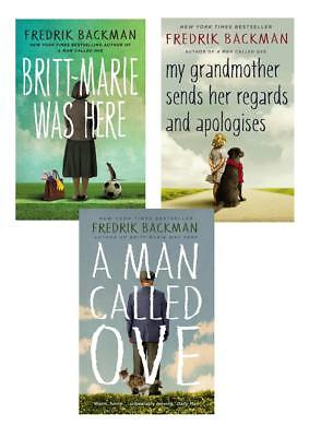 Fredrik Backman 3 Books Set Collection Man Called Ove