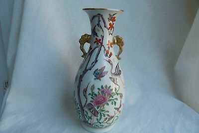 Very Unusual Antique Canton Chinese Porcelain Famille Rose Large Vase. C19Th