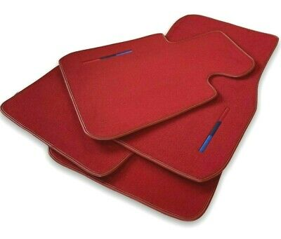 BMW 6 Series E64 Black Floor Mats Red Rounds With ///M Logo LHD Exclusive NEW