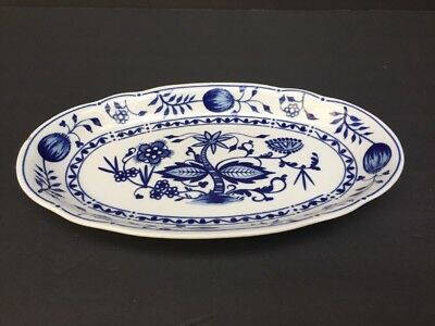 Blue Onion Kahla Zwiebelmuster GDR 34 Oval Dish Blue & White Beautiful