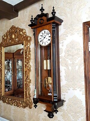 Antique 2 weight Vienna Regulator wall clock by Karlstein Osterreich