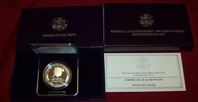 1997 Proof Silver Dollar National Law Enforcement  Commemoratives Coin  $1