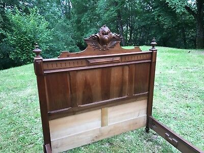 Beautiful carved French bed.