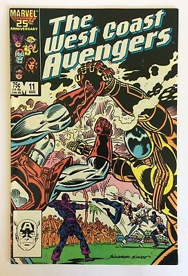 The West Coast Avengers Vol. 2 No. 11, Aug 1986, VG, Marvel Comics