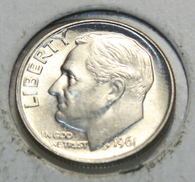 * 1961-P Roosevelt Dime 90% Silver
