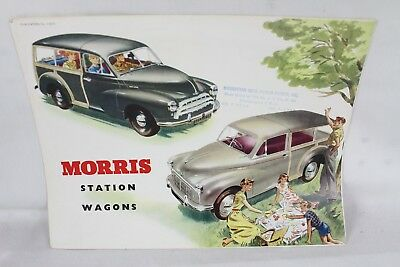 Rare Vintage Morris Station Wagon Advertising Brochure Car Old Collectable