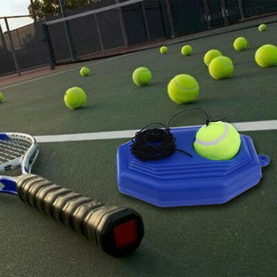 FM- Tennis Training Tool Practice Ball Self-study Rebound Ball Baseboard Set Fas