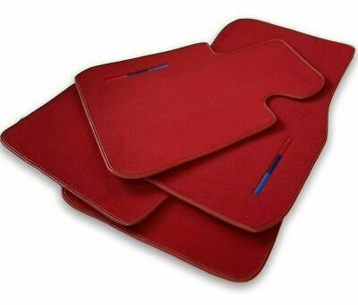 BMW 5 Series E39 Black Floor Mats Red Rounds With ///M Logo LHD Exclusive NEW