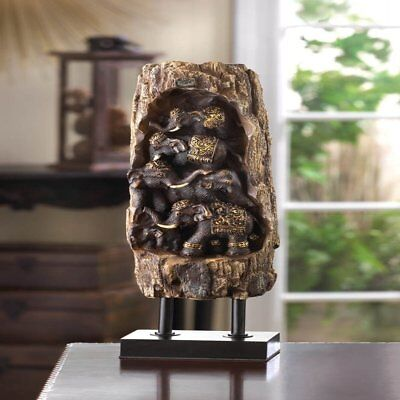 Accent Plus Carved Elephant Totem Decor