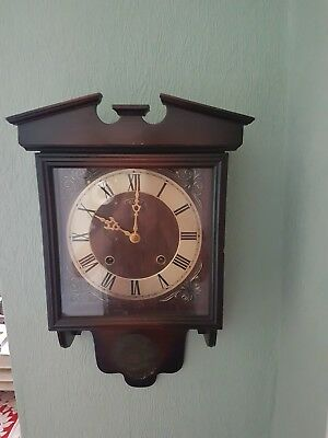 Vintage President wind up chiming Wall Clock Fully Working