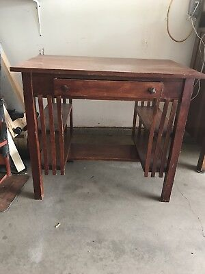 Antique Mission Writing Desk Table