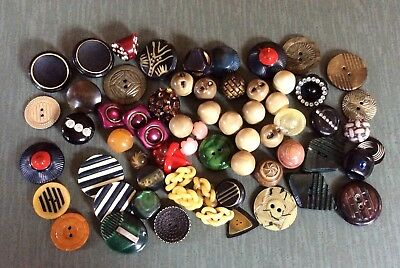 Fun Lot Of 63 Celluloid Buttons, Sets, Pairs, Extruded, Wafers ++
