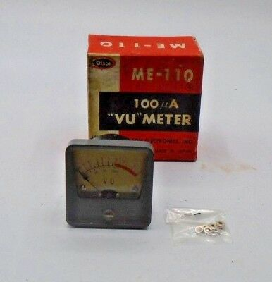 OLSON Electronics Jeweled Panel Meter ME-110 VU Meter Vintage Japan Made NIB *29