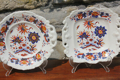 Unusual Antique Matching Plate and Platter Georgian 19th Century Victorian