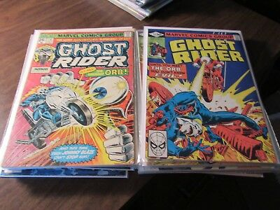 Lot of 22 Vintage Ghost Rider Bronze Age 1974 Comic Book Collection Run Marvel