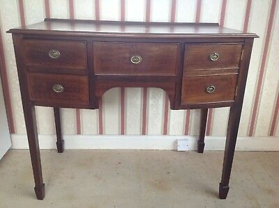 Regency Style Small Mahogany Bow Fronted Sideboard Dressing Table