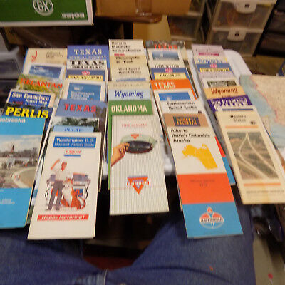 lot of 40 various road maps