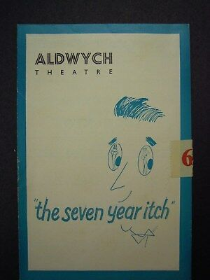 """""""THE SEVEN YEAR ITCH"""" 1st PERFORMANCE VINTAGE PROGRAM 14/5/1953 ALDWYCH THEATRE"""