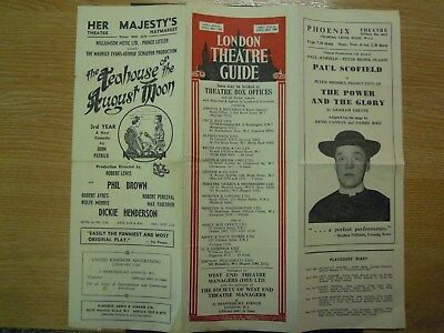 LONDON THEATRE GUIDE FOR APRIL 23rd TO APRIL THE 28th 1956