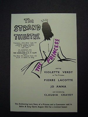 """Flyer For The New Musical """"the Princes"""" At The Strand Theatre"""