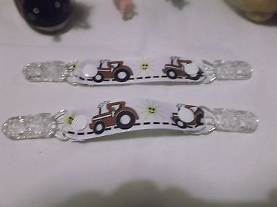 pair mitten glove clips child red tractor farm like massey xmas gift for kids