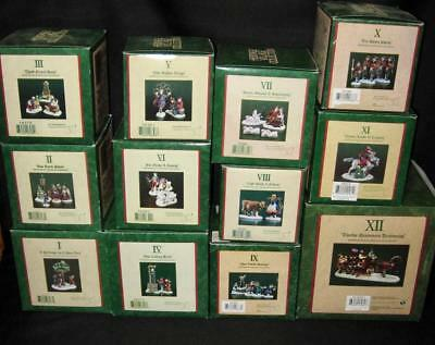 MIB ~ Dept 56 Dickens Village 12 DAYS OF CHRISTMAS ~ MINT! ~ Complete Set!