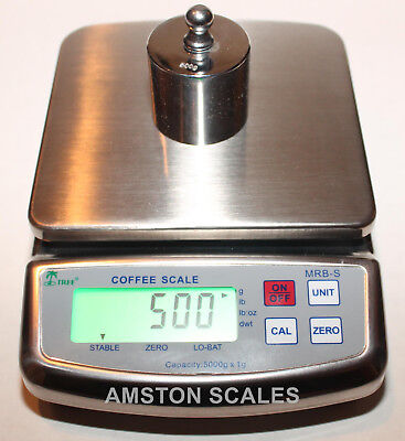 5000 X 1 Gram Digital Scale High Quality Stainless Steel Coffee Food Kitchen New