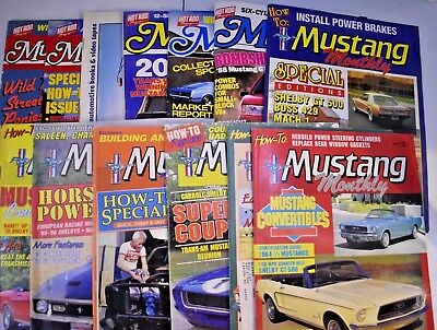 Vintage Lot of 13 1988 Ford Mustang Magazines, Monthly Issues,  Hot Rod