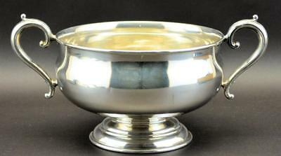 """Mappin & Webb Sterling Silver Rose Bowl 12.5"""" Handle To Handle"""