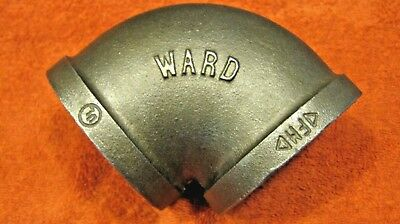 Ward 2 1/2 in 90 Deg Elbow-black malleable pipe fitting-FB90-2 1/2  Made in USA
