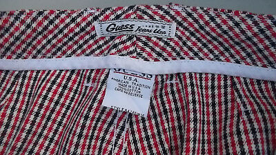 Vintage Guess 80's High Waist Check Slim Fit Pant Made in USA W-29